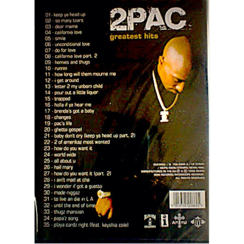 dvd 2pac greatest hits videos
