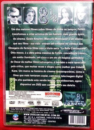 dvd 8 1/2 - federico fellini (oito e meio) mastroianni 1963
