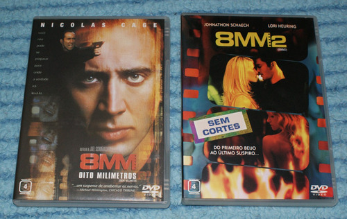 dvd 8 milímetros e dvd 8 milímetros 2 - dvd's originais