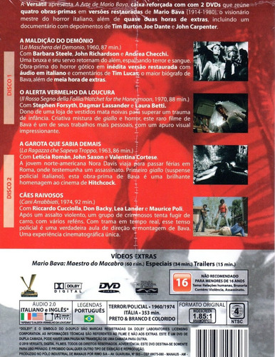 dvd a arte de mario bava - versatil - bonellihq q20