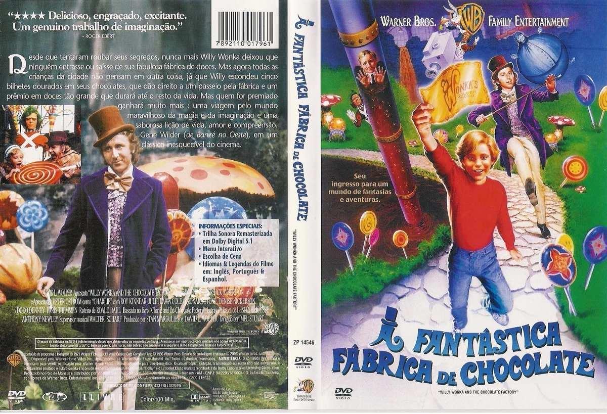 Dvd A Fantastica Fabrica Chocolate -1971 - R$ 15,00 em ...