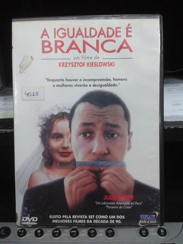dvd - a igualdade é branca - krzysztof kiesloski