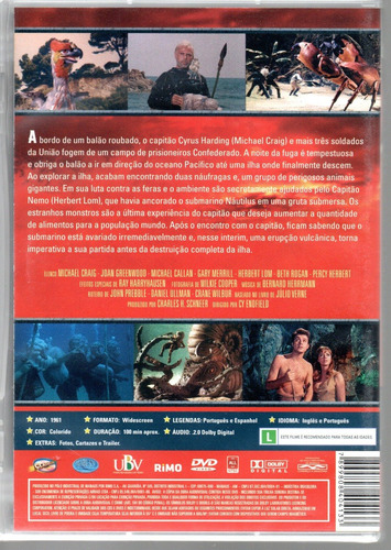 dvd a ilha misteriosa - classicline - bonellihq h19