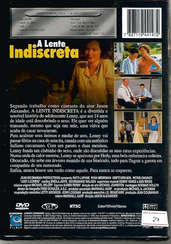 dvd a lente indiscreta - lacrado - novo