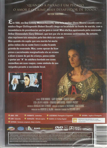 dvd a letra escarlate - classicline - bonellihq l19