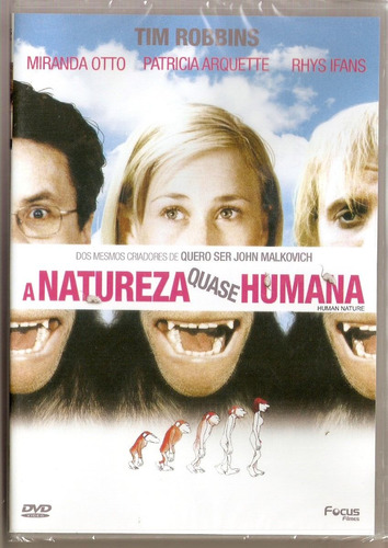 dvd a natureza quase humana - novo***