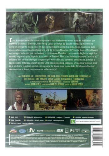dvd a nova viagem de simbad - classicline - bonellihq m20