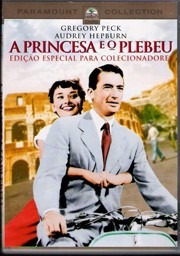 dvd a princesa e o plebeu, audrey hepburn e gregory peck  +