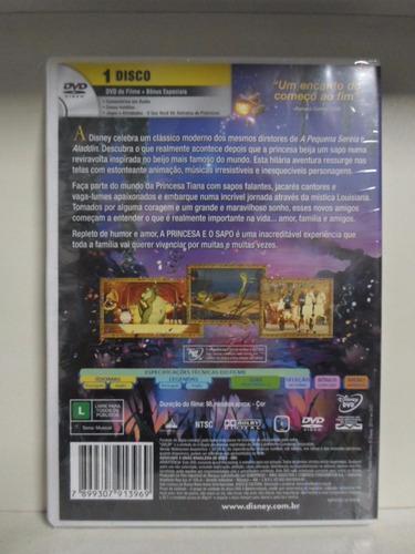 dvd a princesa e o sapo - lacrado - original - original