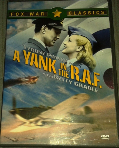 dvd a yank in the r. a. f. tyrone power y betty grable