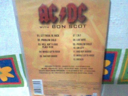 dvd ac/dc  @  with bon scot    (lacrado)