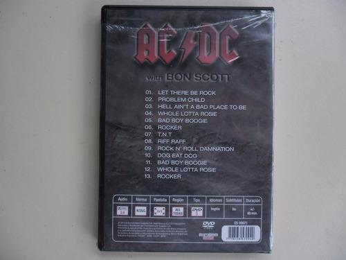 dvd  ac/dc  with bon scott  importado lacrado