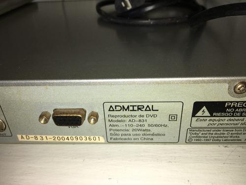 dvd admiral ad-831 ( no enciende )