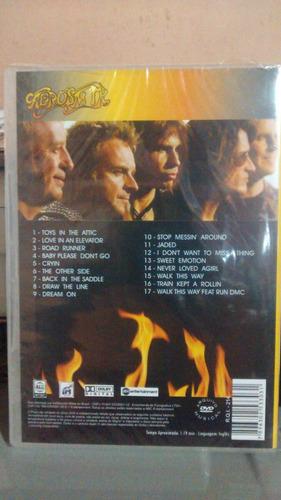 dvd aerosmith live concert - novo lacrado fábrica raro