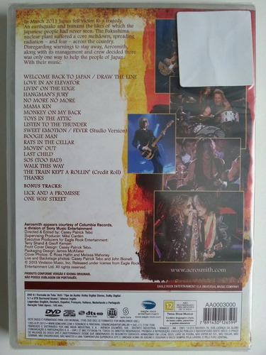dvd aerosmith-rock for the rising novo lacrado