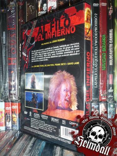 dvd al filo del infierno rock n roll nightmar esp metal gore