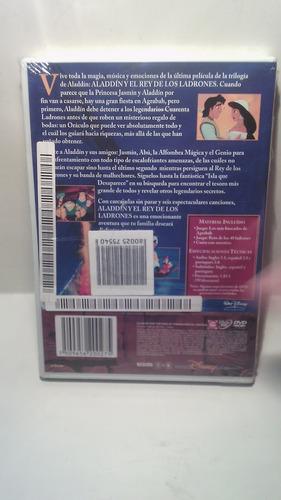 dvd aladdin y el rey de los ladrones disney - dvd original