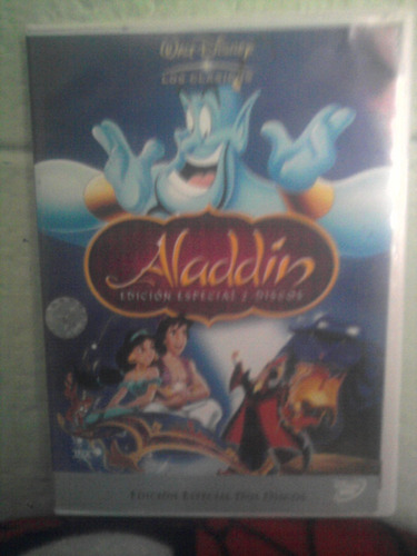 dvd aladdin y la lampara maravillosa walt disney caricaturas