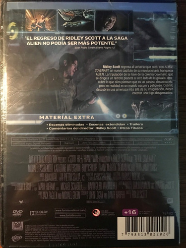 dvd alien covenant / de ridley scott