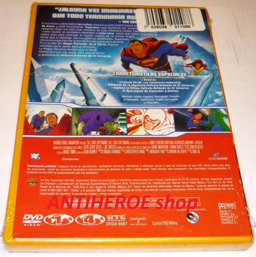 dvd all star superman ¡rebajado!