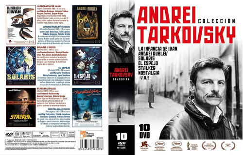 dvd andrei tarkovsky coleccion / 6 films / 10 discos