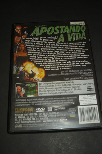 dvd - apostando a vida - billy zane