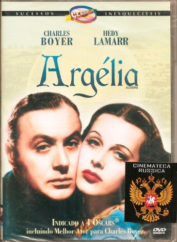 dvd argélia hedy lamarr charles boyer   1938 preto e branco+