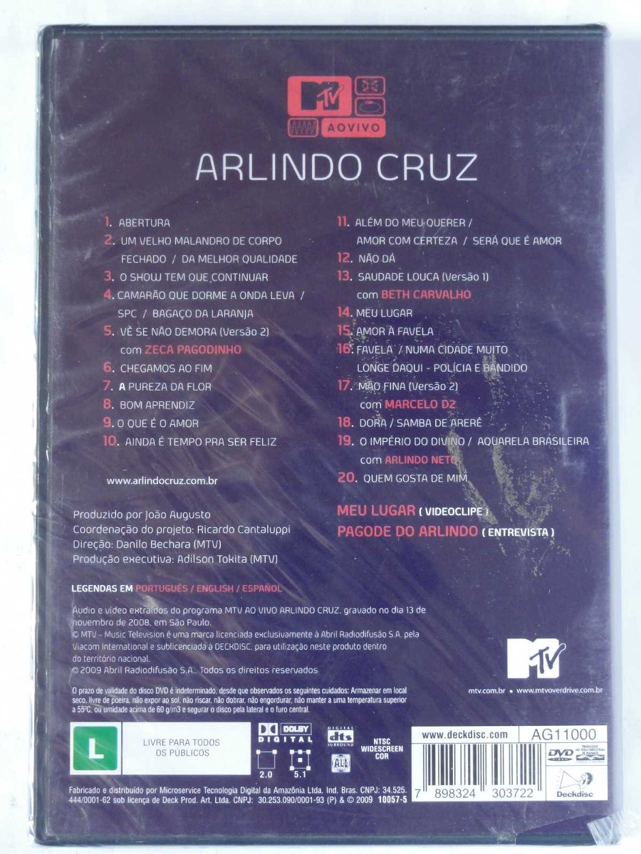 audio do dvd arlindo cruz mtv