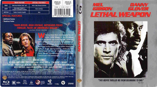 dvd arma mortal letal lethal weapon 1 mel gibson danny glove