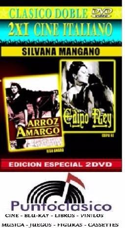 dvd - arroz amargo -  edipo rey - silvana mangano - italia