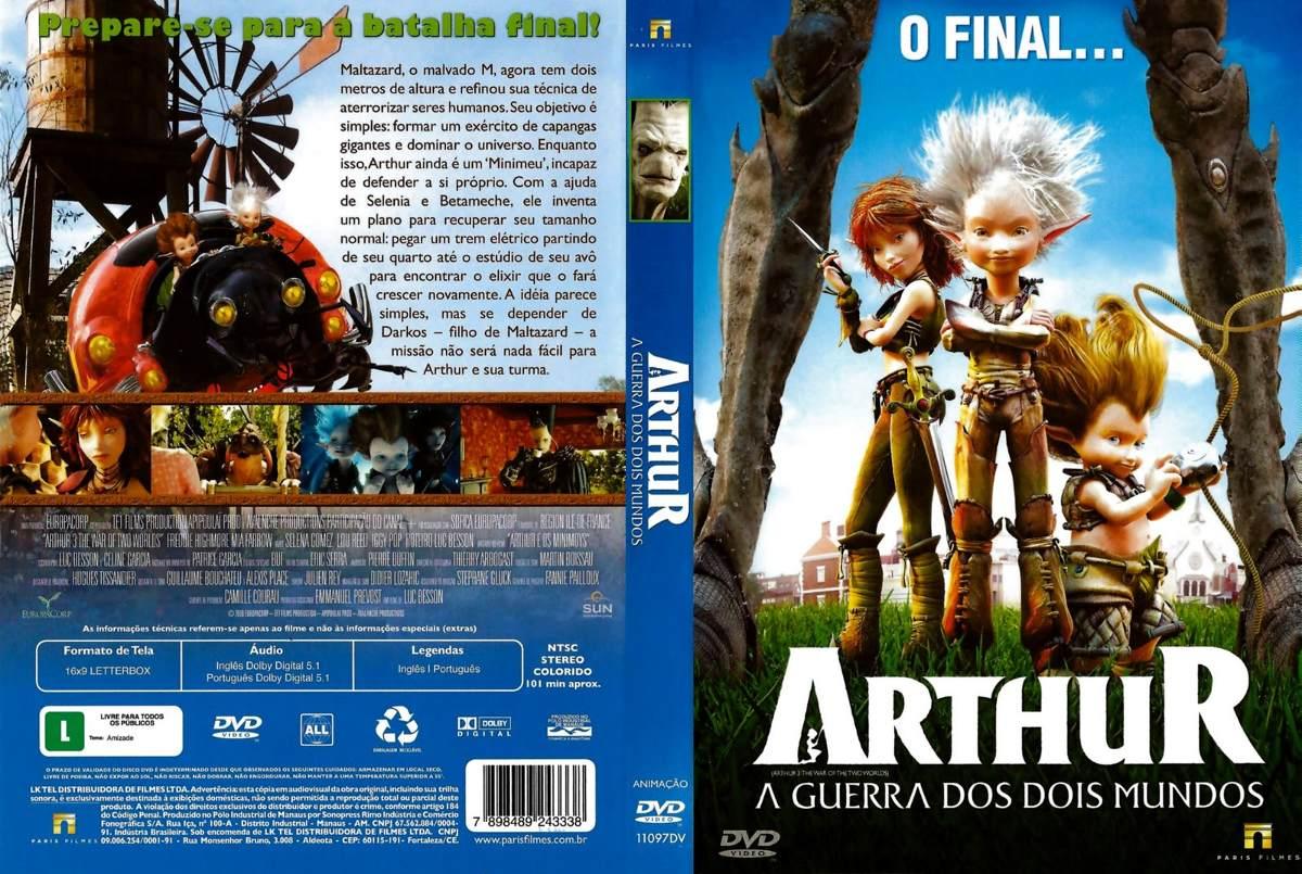 Dvd Arthur A Guerra Dos Dois Mundos Animacao Original R 9
