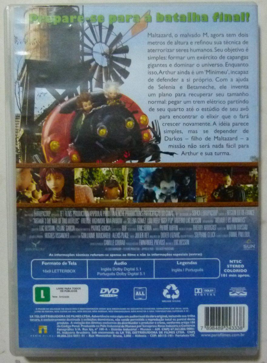 Dvd Arthur A Guerra Dos Dois Mundos O Final R 22 00 Em