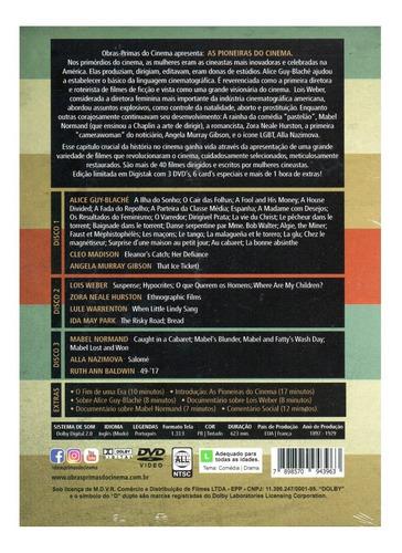 dvd as pioneiras do cinema com cards - opc - bonellihq l19