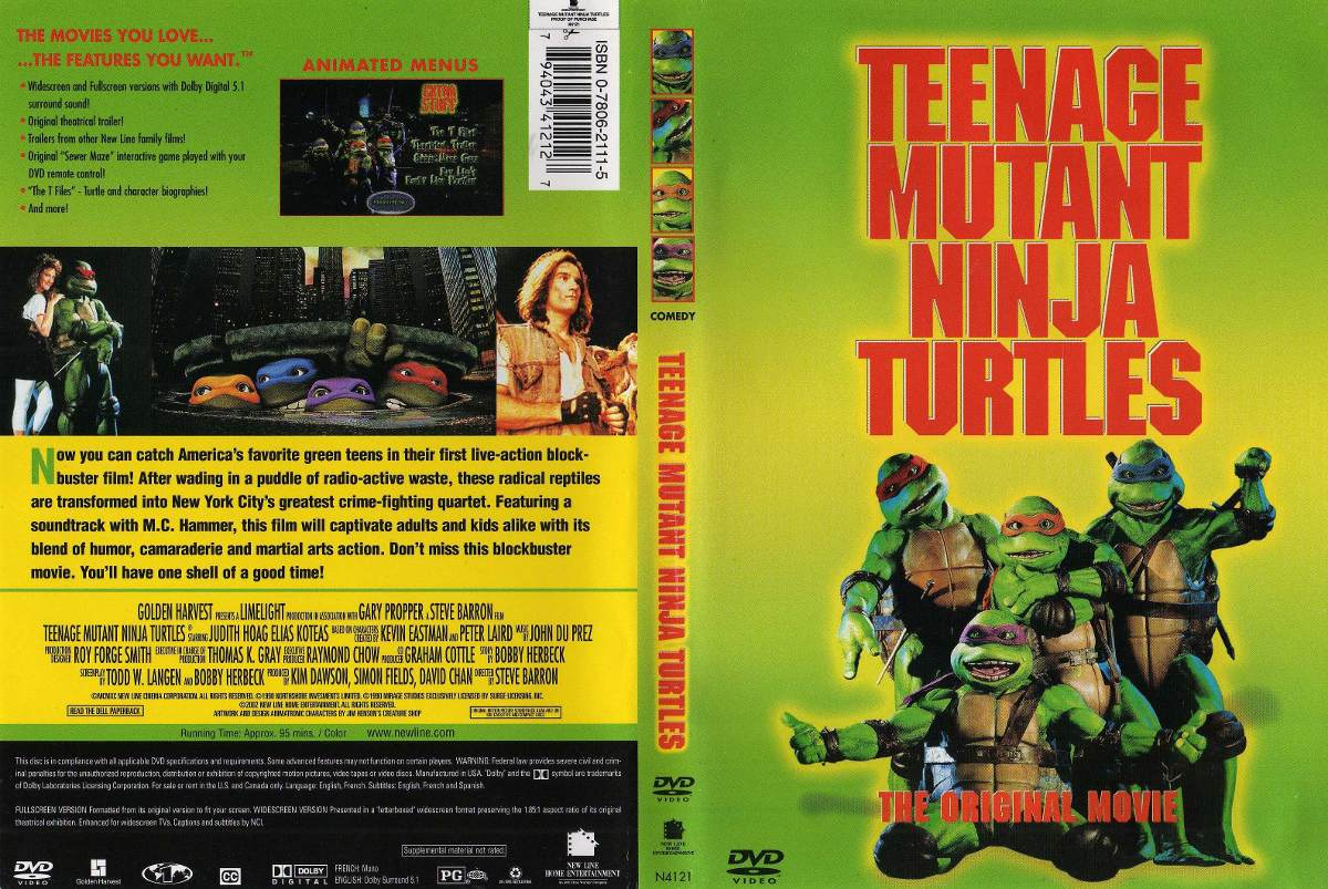Teenage Mutant Ninja Turtles 1990 DVD Box Art