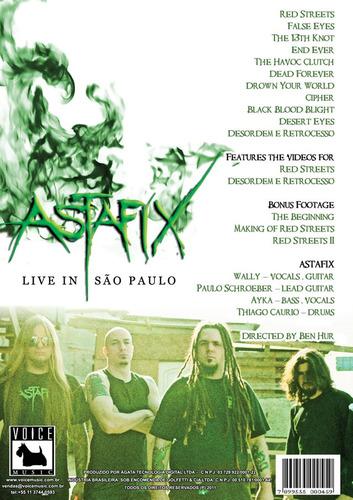 dvd astafix - live in são paulo - videos e extras