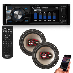 Dvd Automotivo Pioneer 3 Usb Mp3 Radio Fm + Par 6 Polegadas