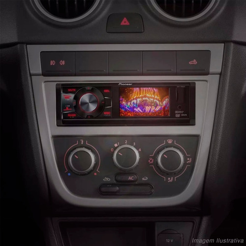 dvd automotivo pioneer dvh-7880av am/fm mp3 usb auxiliar rca
