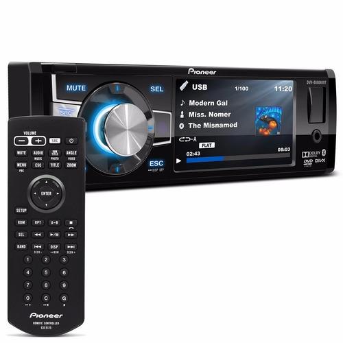 dvd automotivo pioneer dvh-8880avbt tela 3,5'' bluetooth usb