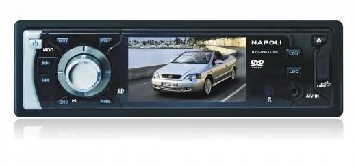 dvd automotivo single din napoli 9963 usb + tv