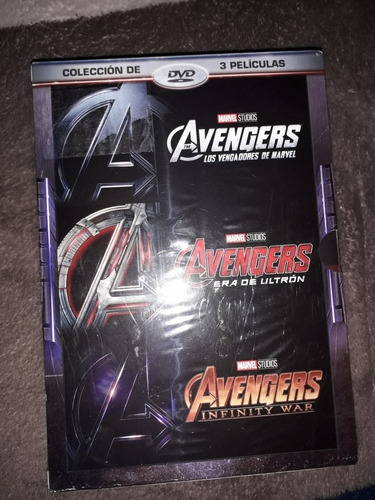 dvd avengers 3 pack coleccion marvel original sellado