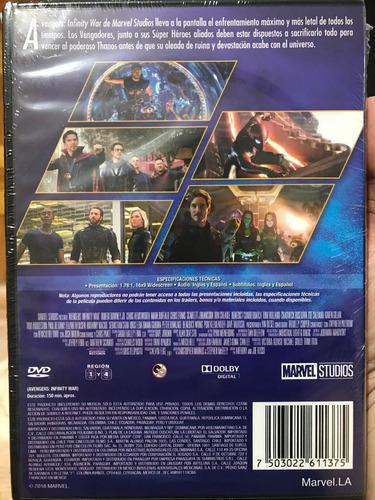 dvd avengers infinity war / de marvel