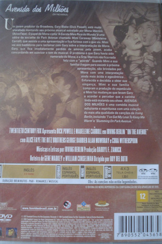 dvd - avenida dos milhoes - original - lacrado