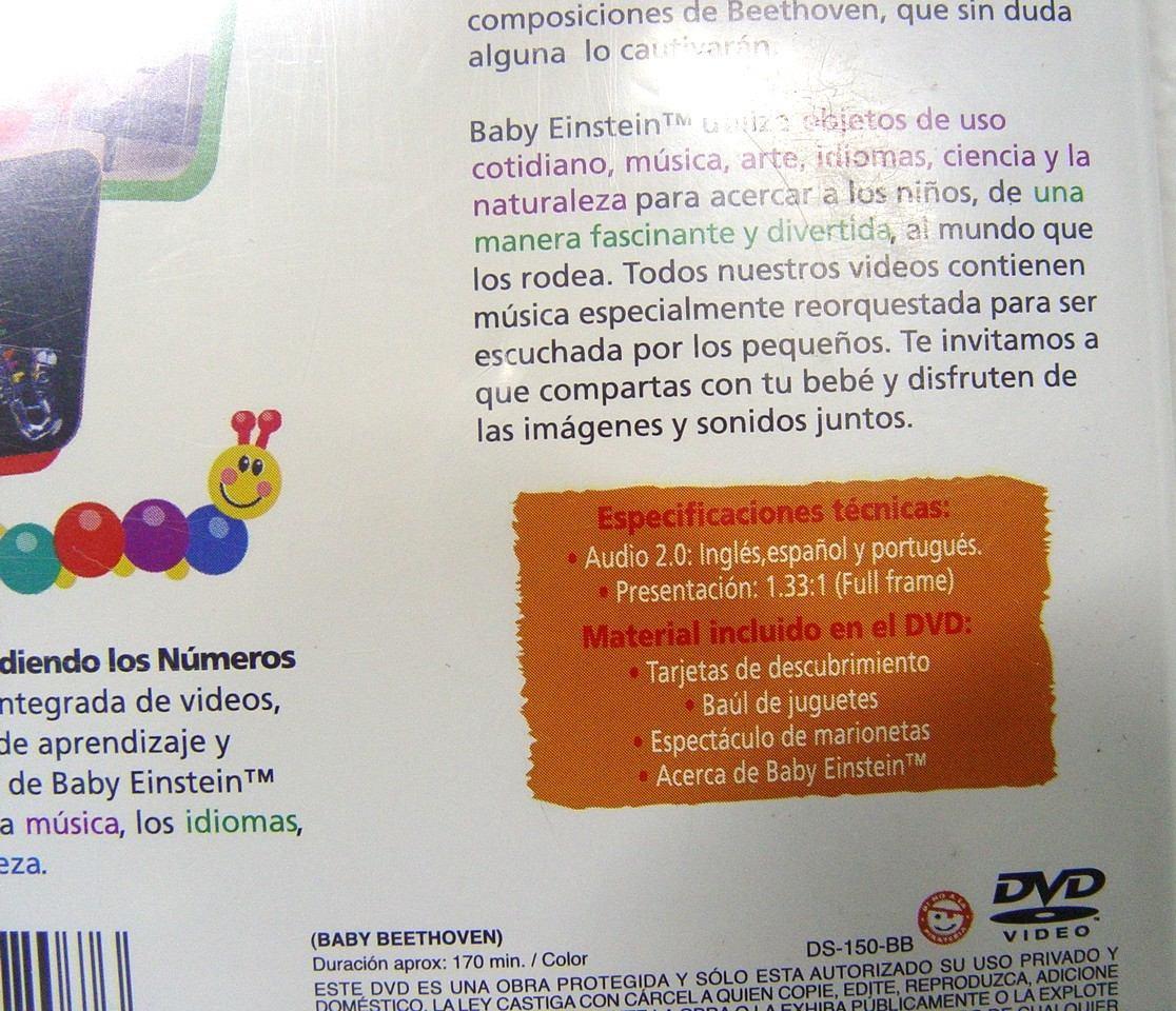 Dvd Baby Einstein, Baby Beethoven Sinfonia De Diversion - $ 100.00 ...