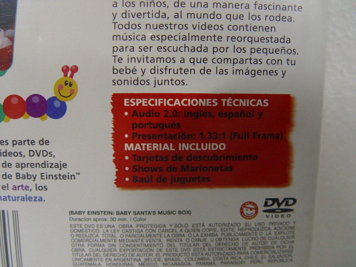 Dvd Baby Einstein, Baby Santa\'s, Music Box De Disney - $ 100.00 en ...