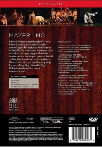 dvd ballet dvd mayerling - the royal ballet