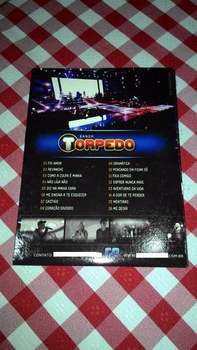 dvd banda torpedo um historia de amor ao vivo capa papelão