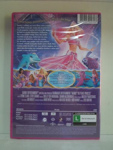dvd barbie - a sereia das perolas - lacrado - frete: 8,00
