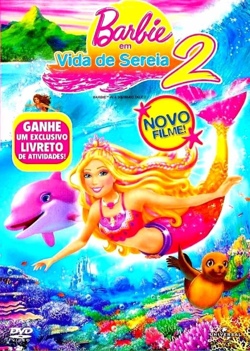 dvd barbie vida sereia 2 com extras e bônus livro austrália r 35