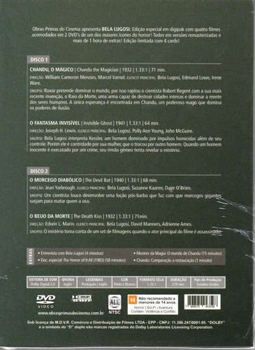 dvd bela lugosi - opc - bonellihq l19