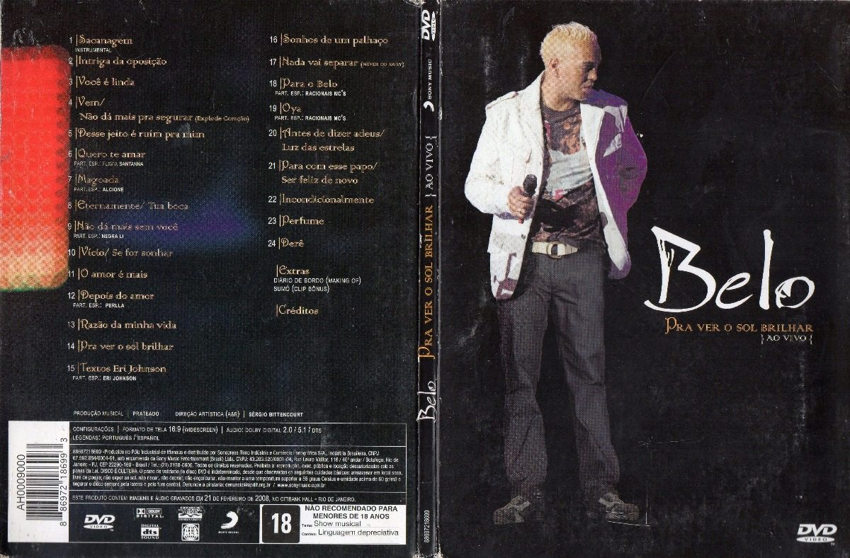 cd audio dvd belo pra ver o sol brilhar